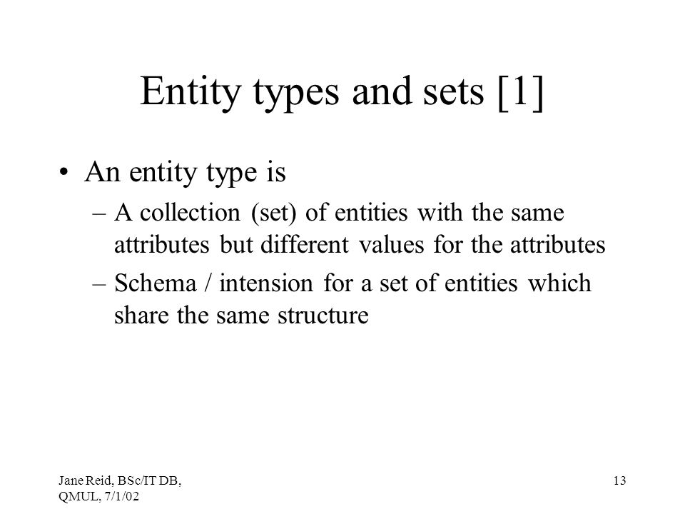 Entity types and sets [1]